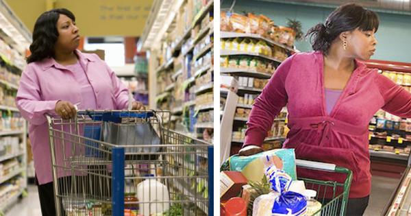 Black women shopping for sanitary napkins