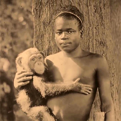 A pygmy from the African Congo, Ota Benga was exhibited in a cage along with monkeys.