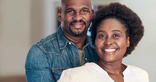 Black couple happy