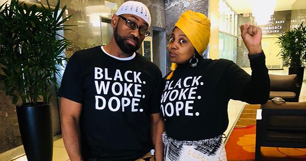 Jenny and Rufus Triplett, founders of Black. Woke. Dope.