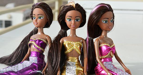 African American mermaid princess dolls