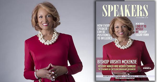 Vashti McKenzie on Speakers Magazine