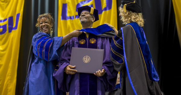 Johnnie Jones, 83-year old LSU graduate