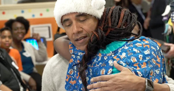President Obama at Children's Hospital in Washington DC