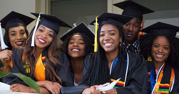 African American scholarship recipients and college graduates