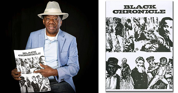 Ben Wilson and his bookcover for Black Chronicle