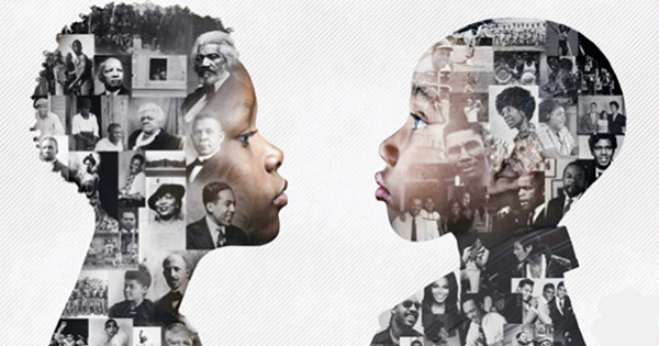 Children learning Black history