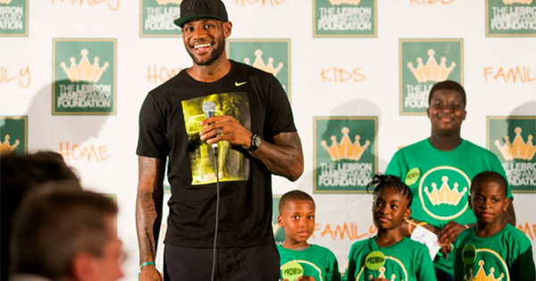 Lebron James giving back to the community