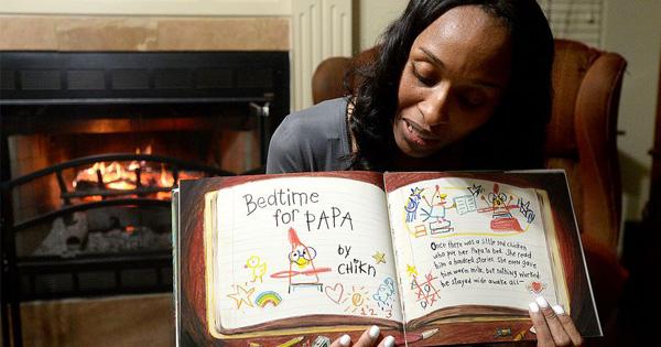 Belinda George reading bedtime stories