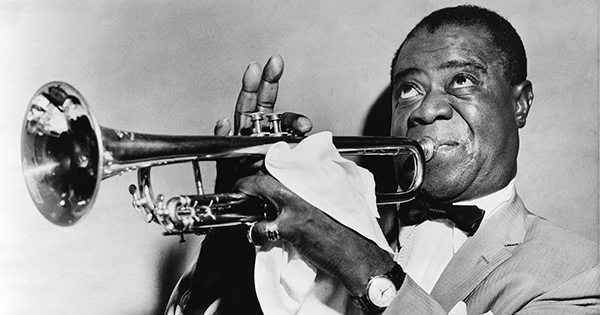 Louis Armstrong, famous Black jazz musician