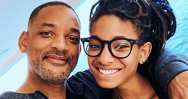 Will Smith with his daughter, Willow