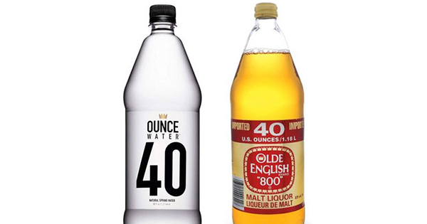 40 ounce water malt liquor