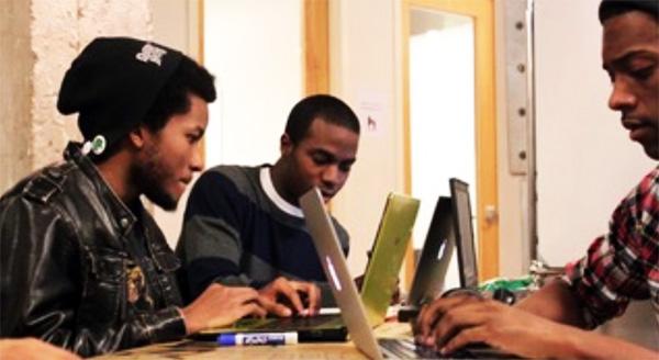 Black entrepreneurs collaborating