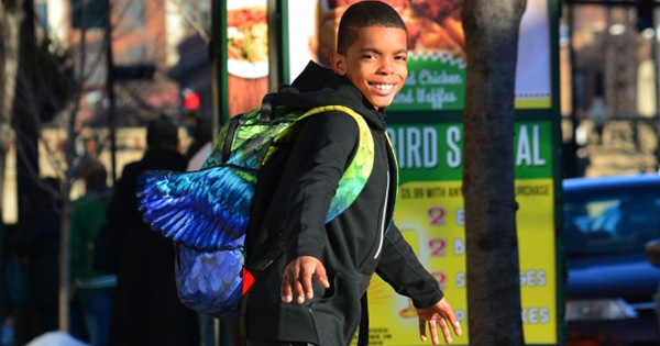 Jahkil Jackson, 11-year old boy giving away blessing bags