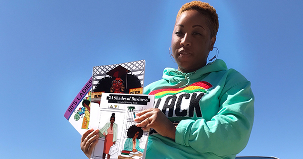 Latoya Nicole, author of HBCU coloring book