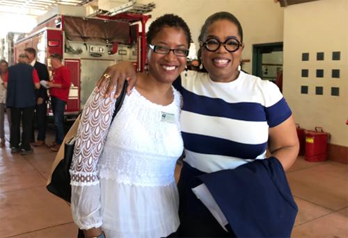 Meiko Patton with Oprah Winfrey