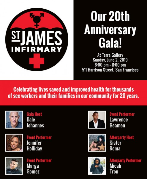 St James Infirmary 20th Anniversary Gala
