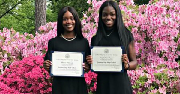 Alexis Peterson and Taykeetria Rogers, first Black students to receive top honors in Arkansas