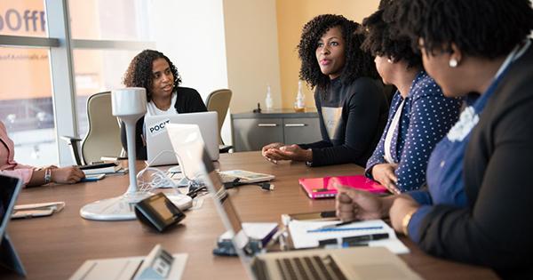 Black women executives working