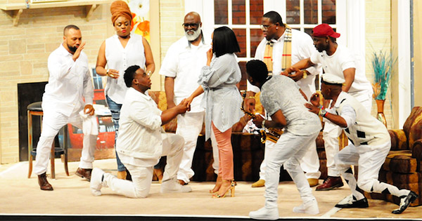 Scene from Daddy's Boys stage play